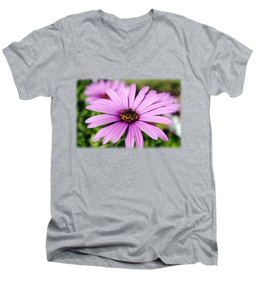 The African Daisy T-shirt 1 Men's V-Neck T-Shirt by Isam Awad