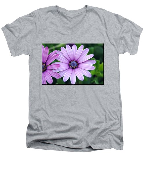 The African Daisy T-shirt 2 Men's V-Neck T-Shirt by Isam Awad