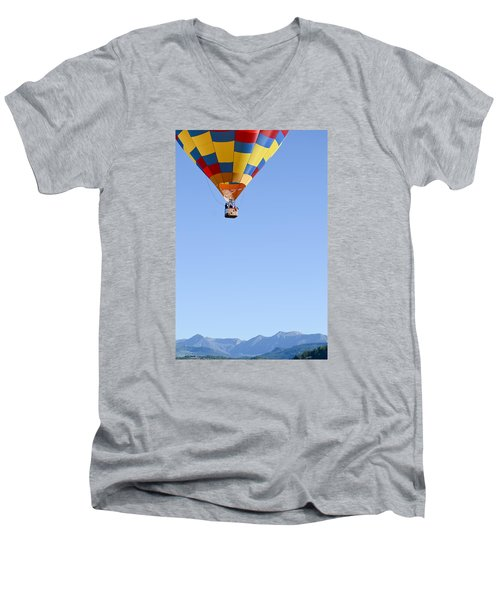 Men's V-Neck T-Shirt featuring the photograph The Air Up There... by Kevin Munro