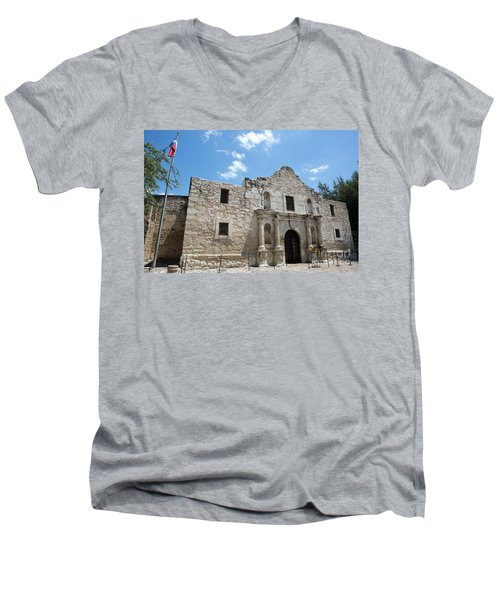 The Alamo Texas Men's V-Neck T-Shirt