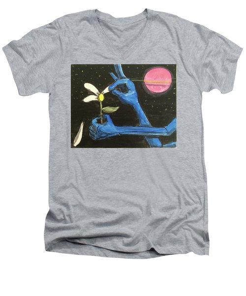 The Alien Loves Me... The Alien Loves Me Not Men's V-Neck T-Shirt