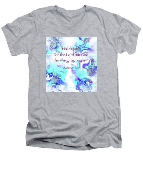The Almighty Reigns Men's V-Neck T-Shirt by Yvonne Blasy