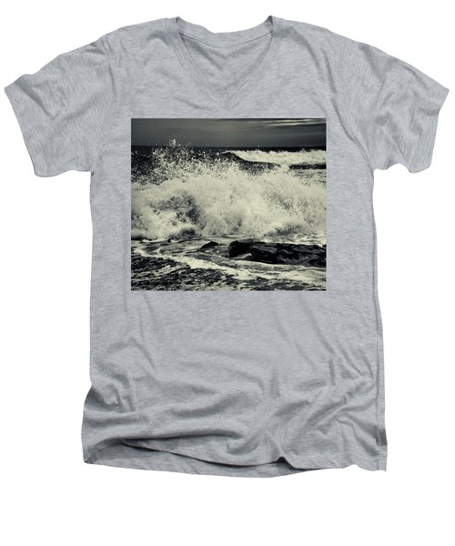 The Angry Sea Men's V-Neck T-Shirt