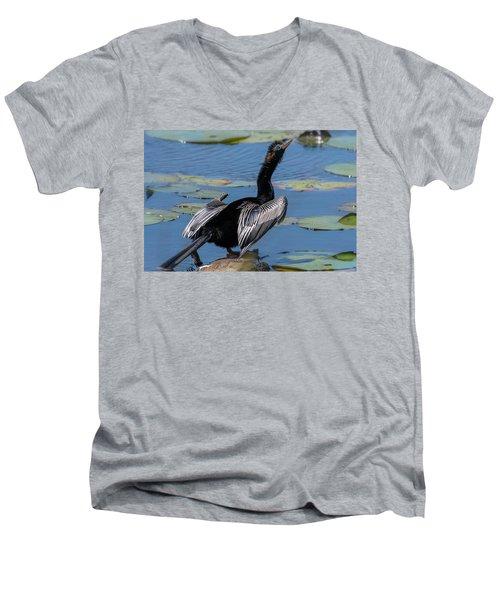 The Bird, Anhinga Men's V-Neck T-Shirt