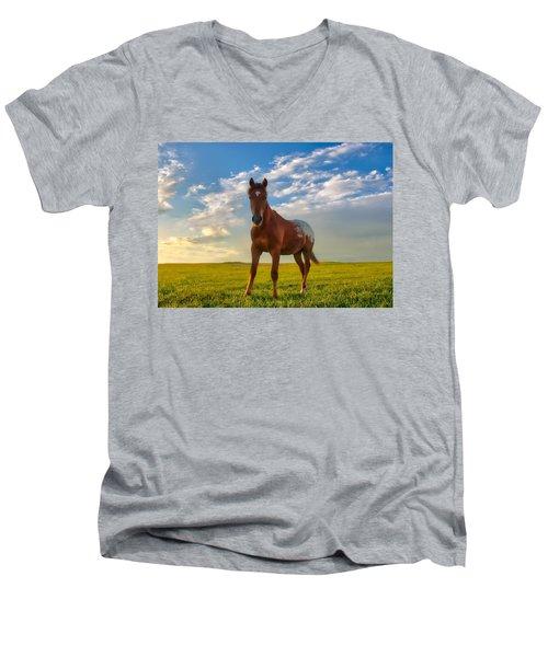 The Appy Men's V-Neck T-Shirt