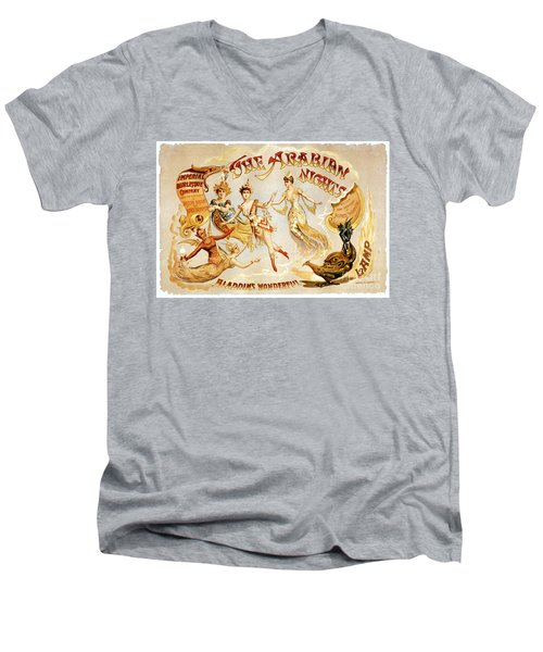 The Arabian Nights Burlesque Men's V-Neck T-Shirt