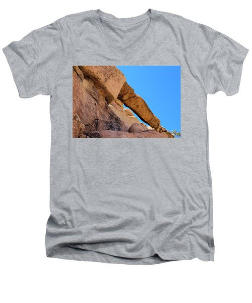 Men's V-Neck T-Shirt featuring the photograph The Arch In Joshua Tree Np by Viktor Savchenko