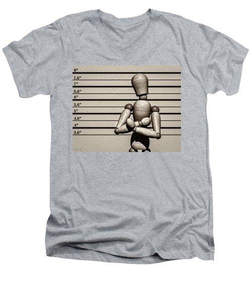 The Arrest  Men's V-Neck T-Shirt by Bob Orsillo