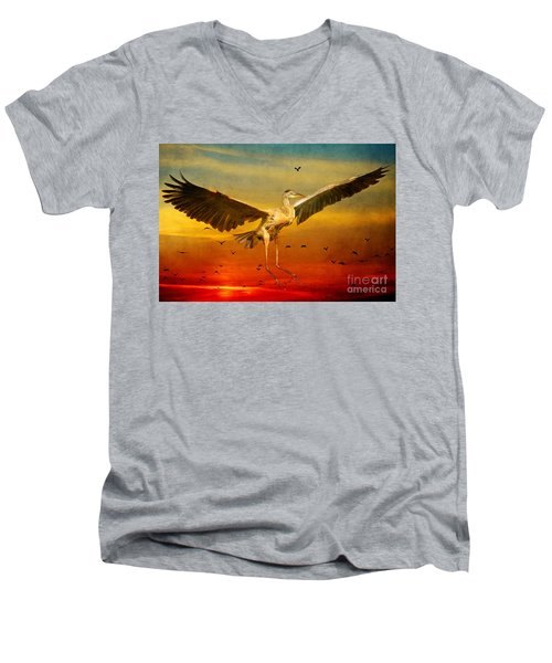 The Arrival And The Reuinion Men's V-Neck T-Shirt by Heather King