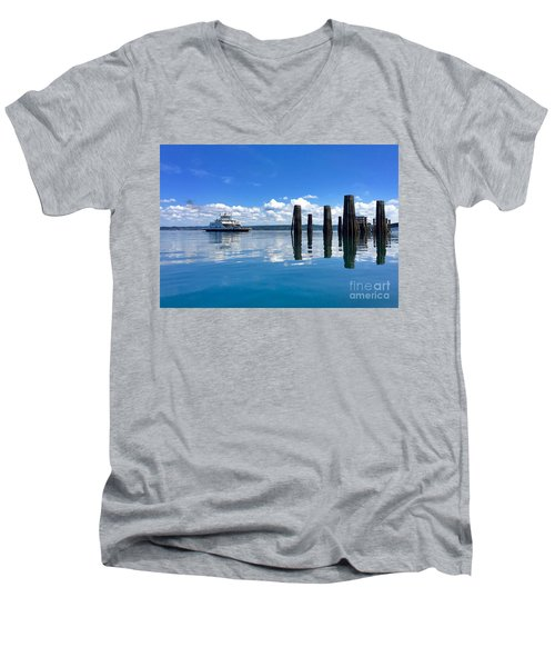 The Arrival Men's V-Neck T-Shirt by Sean Griffin
