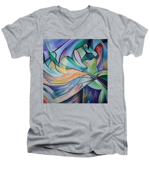 The Art Of Belly Dance Men's V-Neck T-Shirt