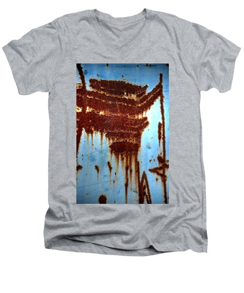 The Art Of Rust Men's V-Neck T-Shirt by Jerry Sodorff