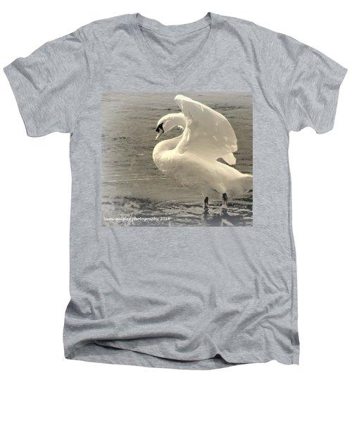 The Art Of The Swan  Men's V-Neck T-Shirt