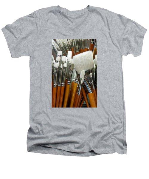 The Artist In The Brush 2 Men's V-Neck T-Shirt
