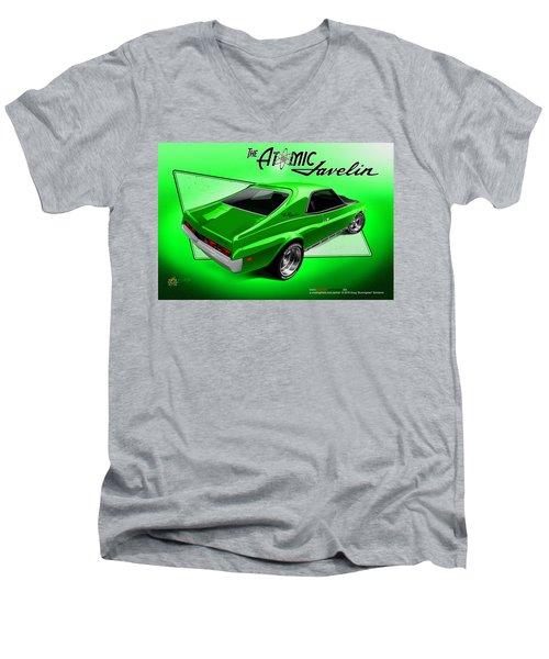 The Atomic Javelin Rear Men's V-Neck T-Shirt