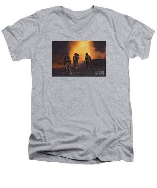 The Attack Men's V-Neck T-Shirt by Jim Lepard
