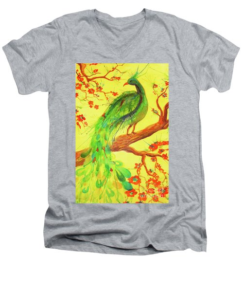 The Auspicious Peacock Men's V-Neck T-Shirt