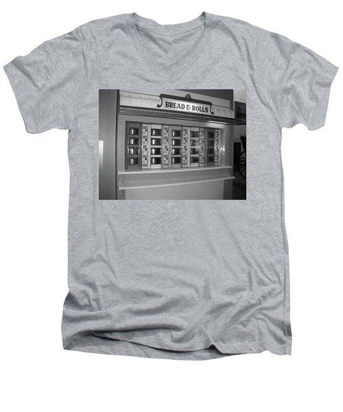 The Automat Men's V-Neck T-Shirt by John Schneider