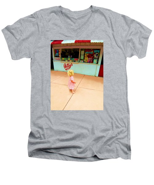The Candy Store Men's V-Neck T-Shirt by Lanita Williams