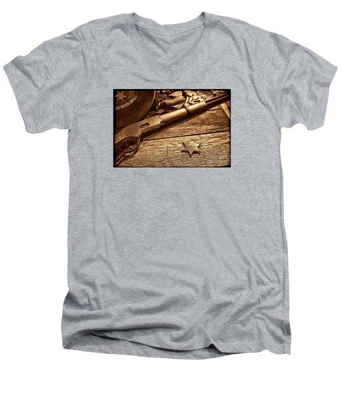 The Badge Men's V-Neck T-Shirt