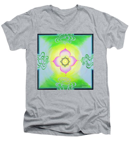 The Bagua Of The Heart Men's V-Neck T-Shirt