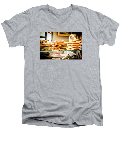 Men's V-Neck T-Shirt featuring the photograph The Baker by Jason Smith