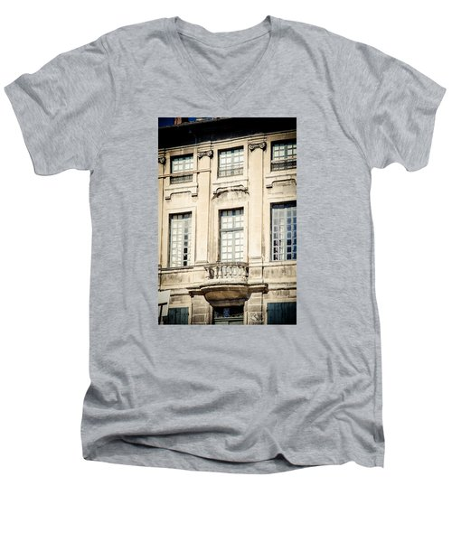 Men's V-Neck T-Shirt featuring the photograph The Balcony by Jason Smith
