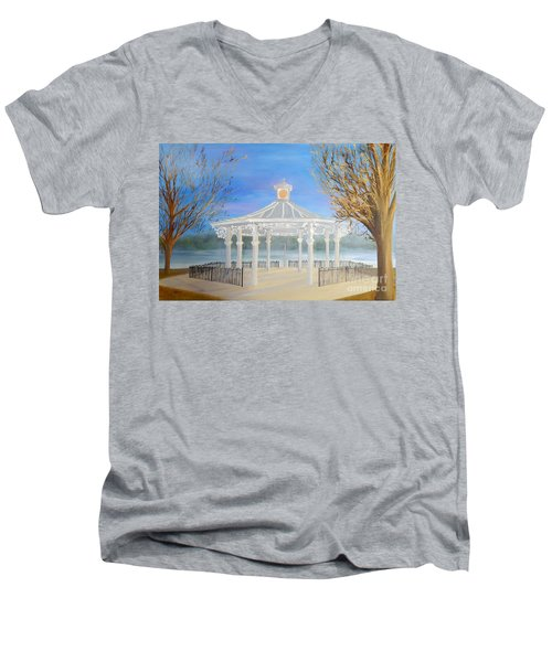 The Bandstand Basingstoke War Memorial Park Men's V-Neck T-Shirt