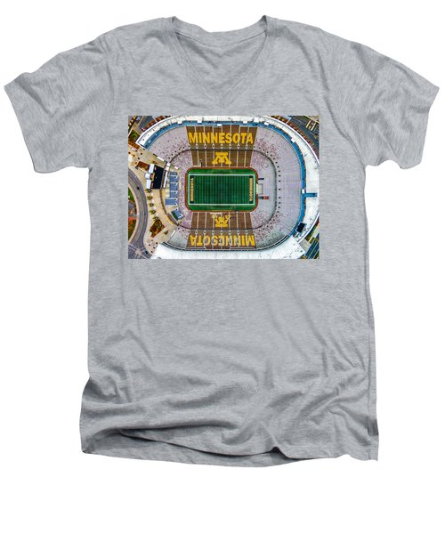 The Bank Men's V-Neck T-Shirt by Mark Goodman