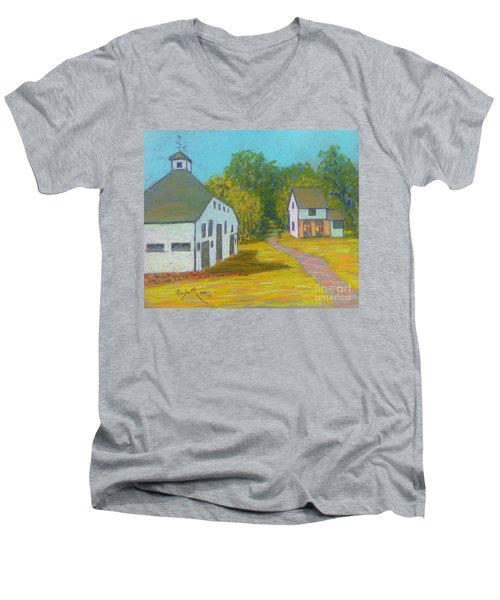 The Barn At Uniacke House  Men's V-Neck T-Shirt by Rae  Smith