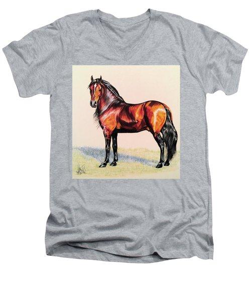 The Baroque Bay Men's V-Neck T-Shirt by Cheryl Poland