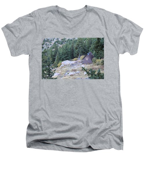 Men's V-Neck T-Shirt featuring the photograph The Barr Trail A Frame by Christin Brodie