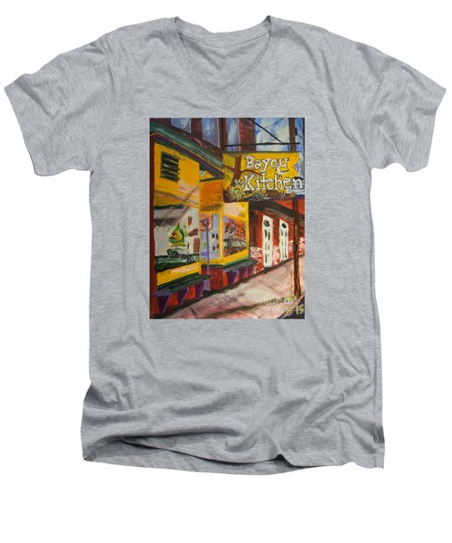 The Bayou Kitchen Men's V-Neck T-Shirt