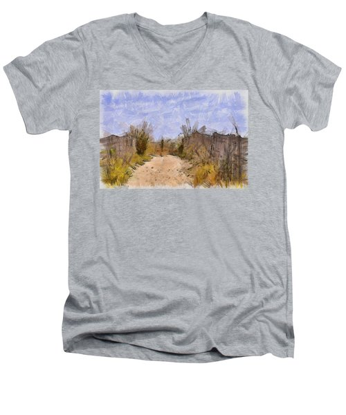 The Beach Awaits Men's V-Neck T-Shirt