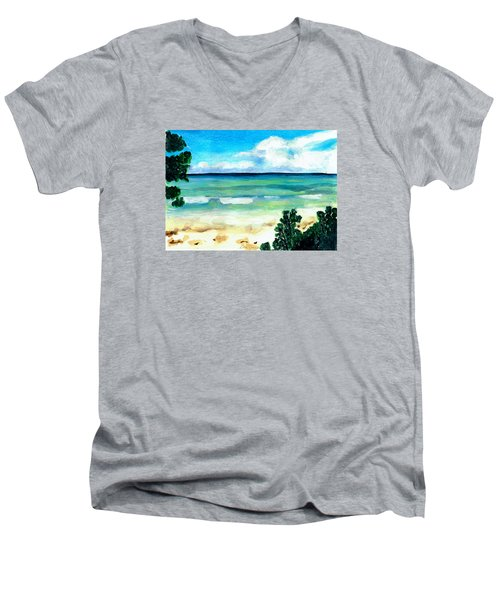The Beach Men's V-Neck T-Shirt