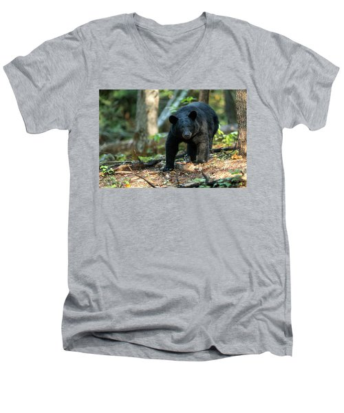 Men's V-Neck T-Shirt featuring the photograph The Bear by Everet Regal