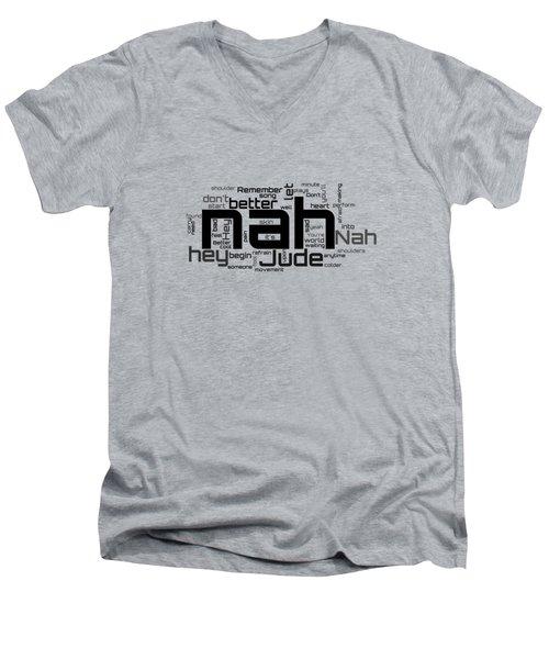 The Beatles - Hey Jude Lyrical Cloud Men's V-Neck T-Shirt