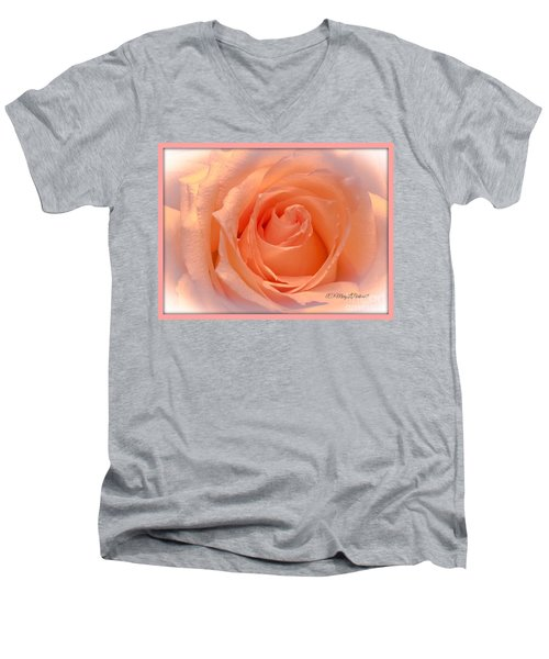 The  Beauty Of A Rose  Copyright Mary Lee Parker 17,  Men's V-Neck T-Shirt by MaryLee Parker
