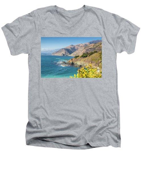 The Beauty Of Big Sur Men's V-Neck T-Shirt by JR Photography