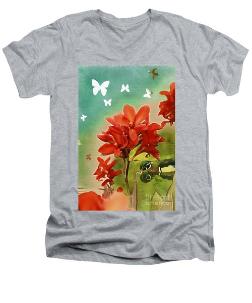 The Beauty Of Nature Men's V-Neck T-Shirt by Claudia Ellis