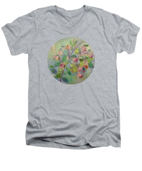 The Beauty Of Spring Men's V-Neck T-Shirt by Mary Wolf