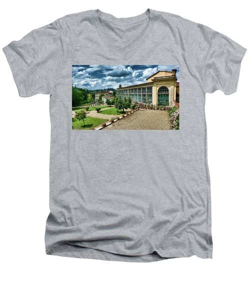 The Beauty Of The Boboli Gardens Men's V-Neck T-Shirt