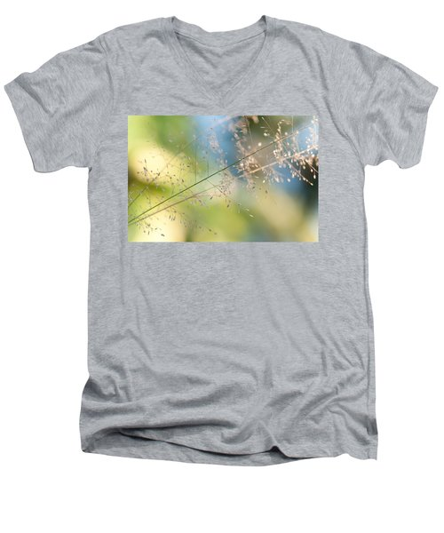 The Beauty Of The Earth. Natural Watercolor Men's V-Neck T-Shirt by Jenny Rainbow