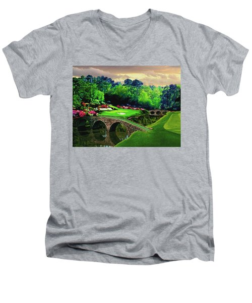 The Beauty Of The Masters Men's V-Neck T-Shirt by Ron Chambers