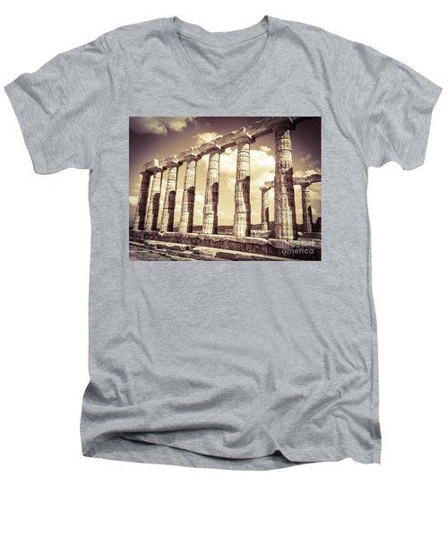 The Beauty Of The Temple Of Poseidon Men's V-Neck T-Shirt
