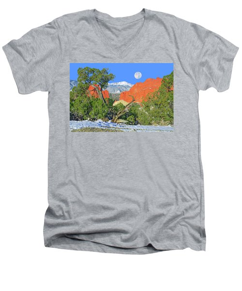 The Beauty That Takes Your Breath Away And Leaves You Speechless. That's Colorado.  Men's V-Neck T-Shirt by Bijan Pirnia