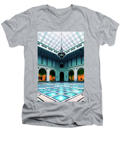 Men's V-Neck T-Shirt featuring the photograph The Beaux-arts Court by Chris Lord