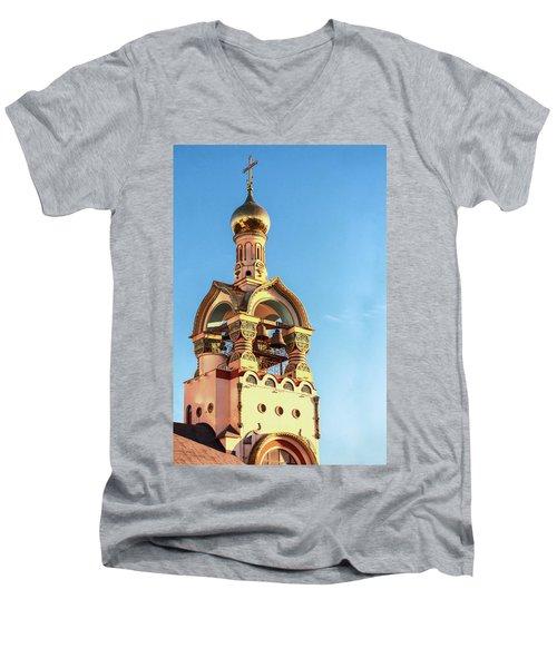 The Bell Tower Of The Temple Of Grand Duke Vladimir Men's V-Neck T-Shirt