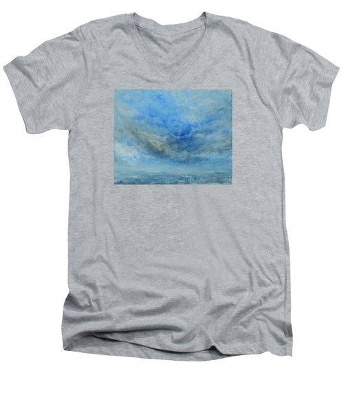 Men's V-Neck T-Shirt featuring the painting The Best Is Yet To Come by Jane See