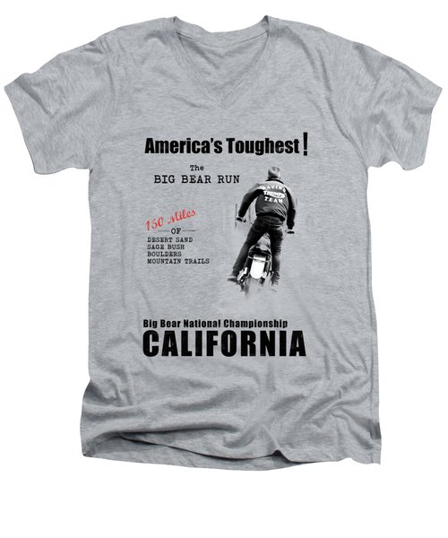 The Big Bear Run Men's V-Neck T-Shirt